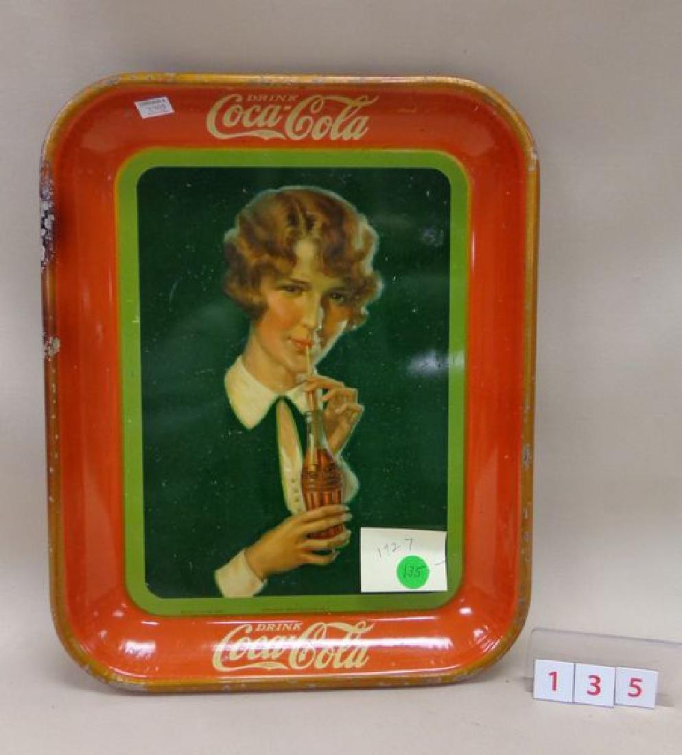1927 COCA-COLA ADVERTISING TRAY