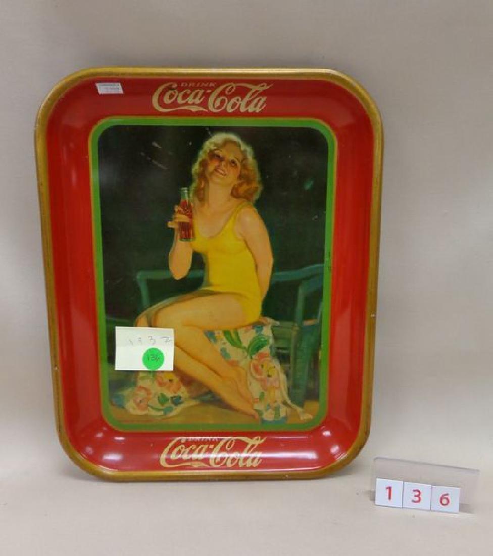 1932 COCA-COLA ADVERTISING TRAY