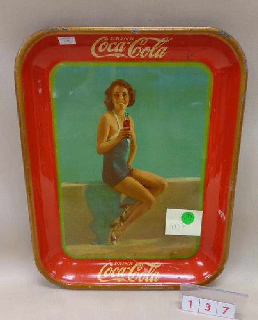 1933 COCA-COLA ADVERTISING TRAY