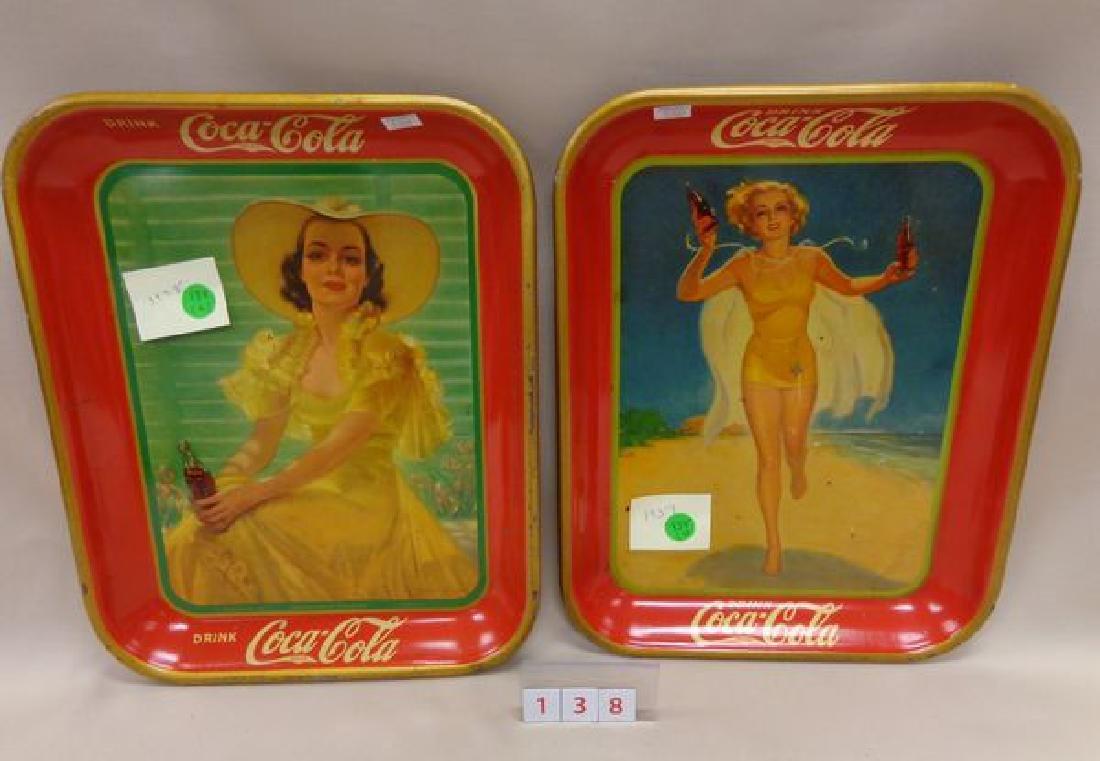 1937 COCA-COLA ADVERTISING TRAY
