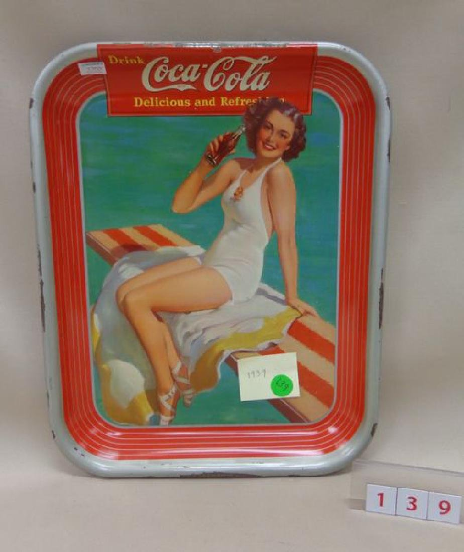 1939 COCA-COLA ADVERTISING TRAY