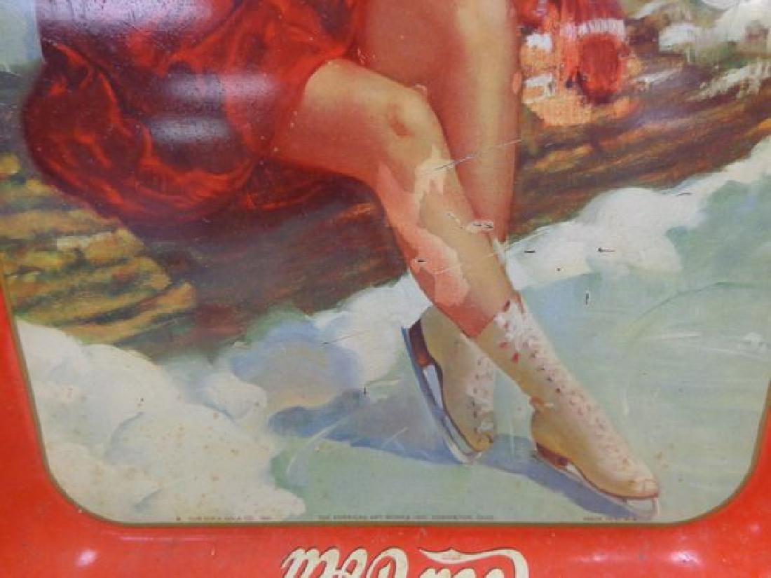1940 COCA-COLA ADVERTISING TRAY - 3