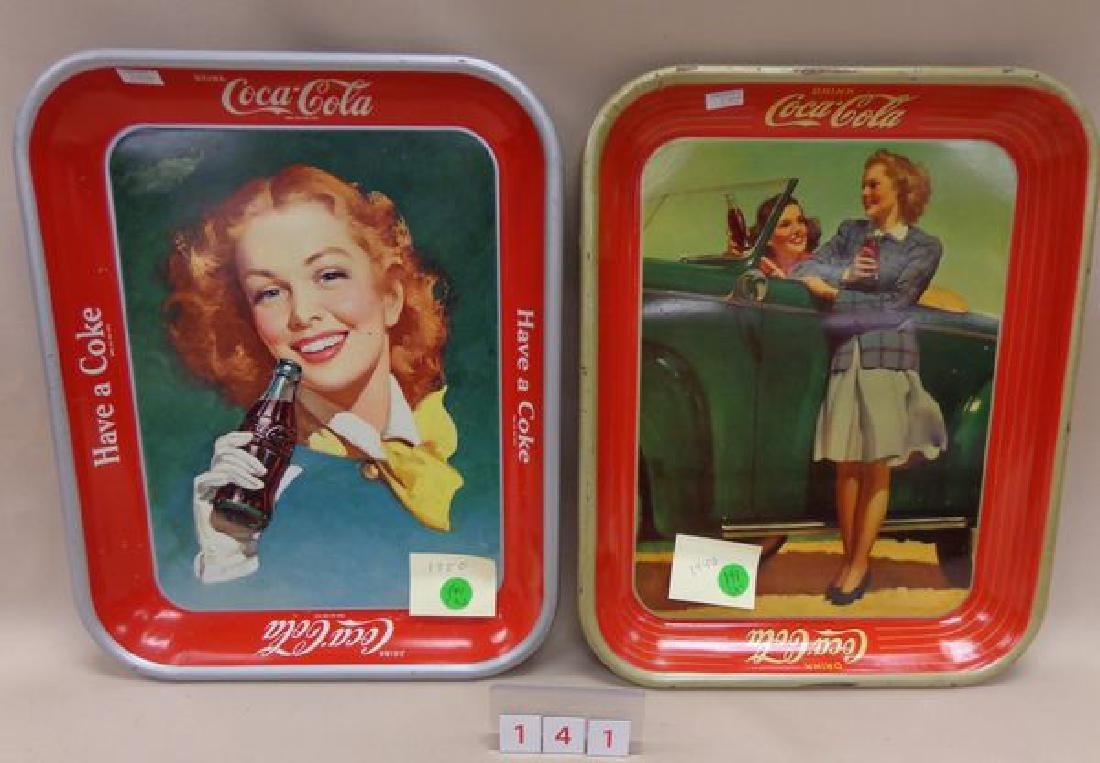 1942 COCA-COLA ADVERTISING TRAY