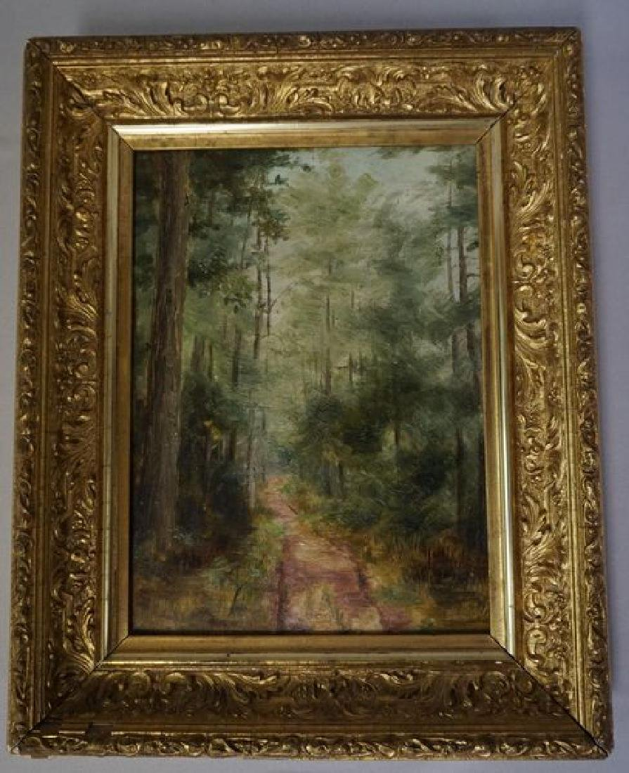 FRAMED OIL PAINTING ON ACADEMY BOARD