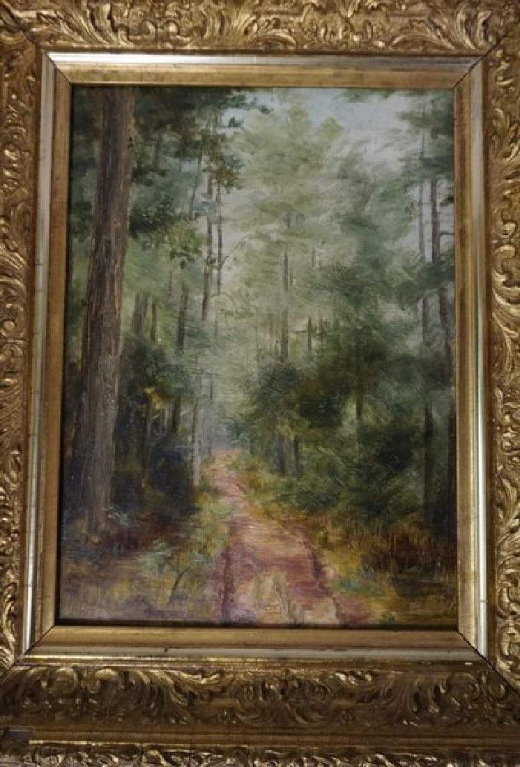 FRAMED OIL PAINTING ON ACADEMY BOARD - 2