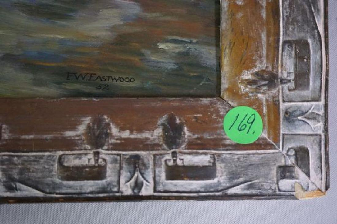 OIL PAINTING ON MASONITE PANEL, STOVER MILL - 3
