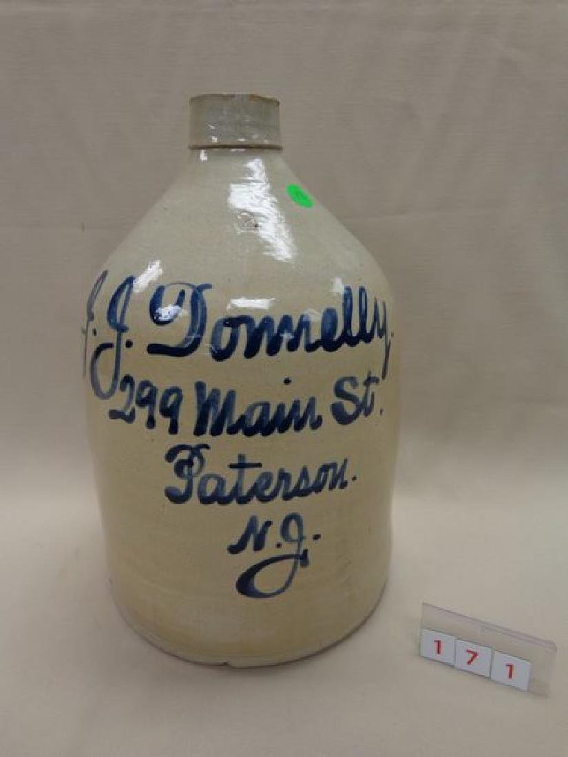 COBALT BLUE DECORATED TWO GALLON