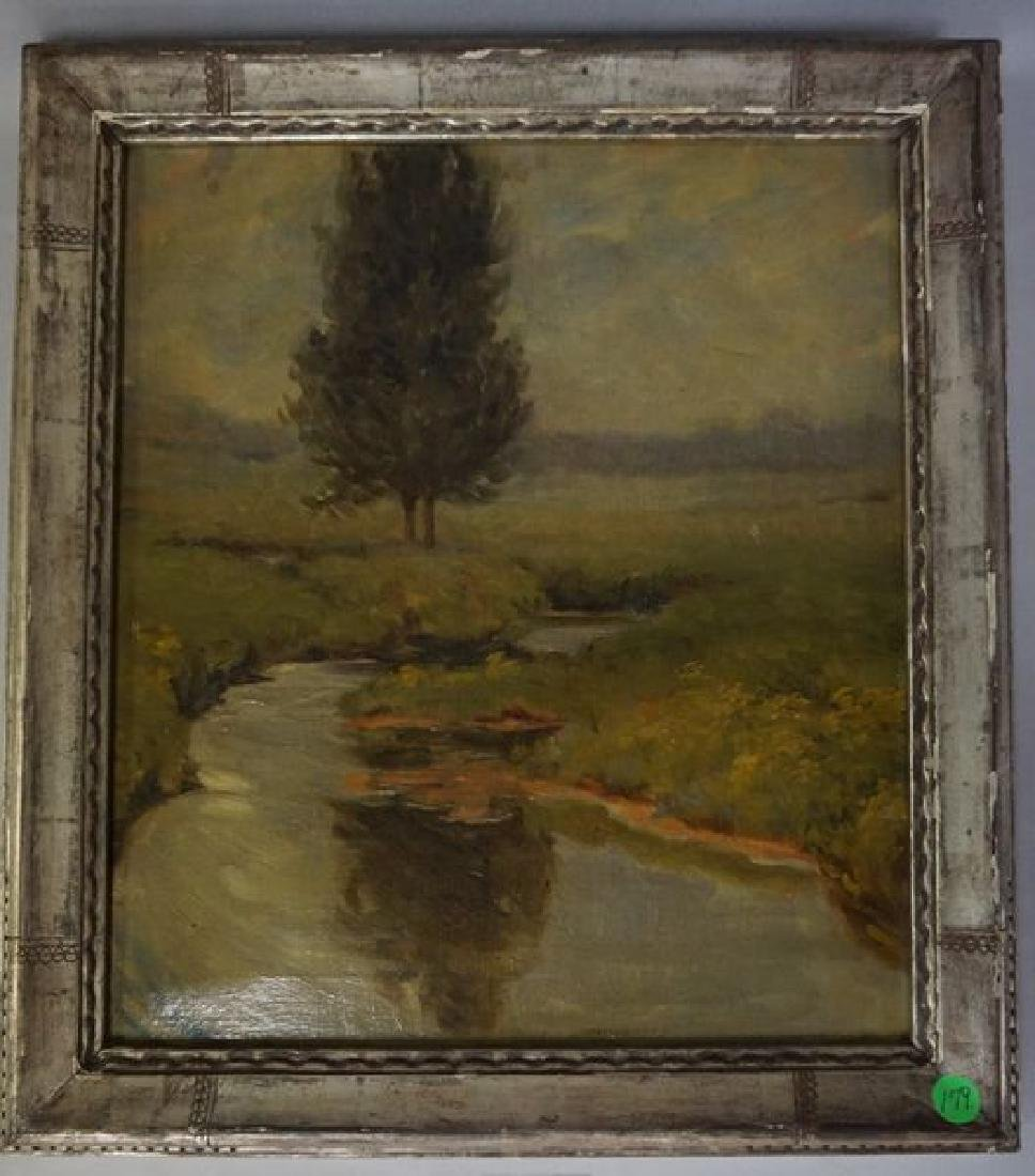 OIL PAINTING ON CANVAS, EXTERIOR SCENE
