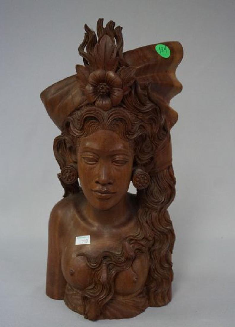 HAND CARVED NATIVE FIGURE