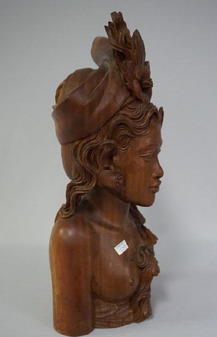 HAND CARVED NATIVE FIGURE - 4