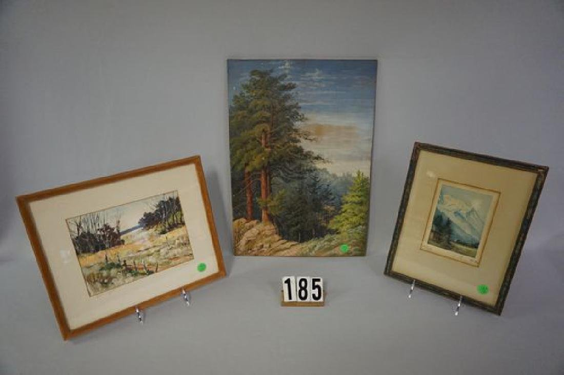 (3 PIECES) OIL PAINTING ON WOODEN PANEL,