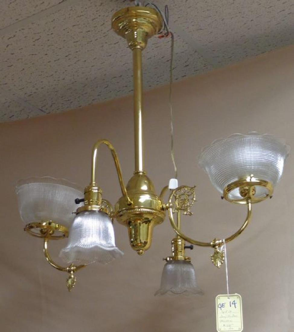EARLY BRASS GAS (ELECTRIFIED) FOUR LIGHT
