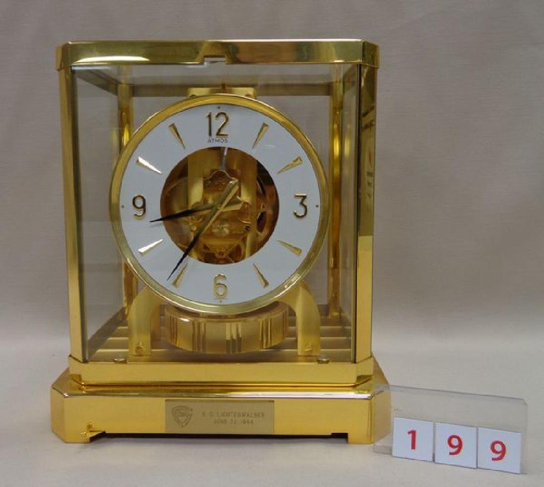 """BRASS """"ATMOS"""" CLOCK BY JAEGER - LE COULTRE"""