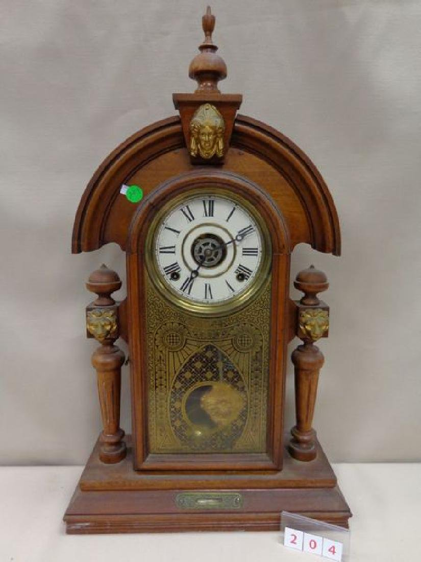 ANTIQUE INGRAHAM MANTLE CLOCK