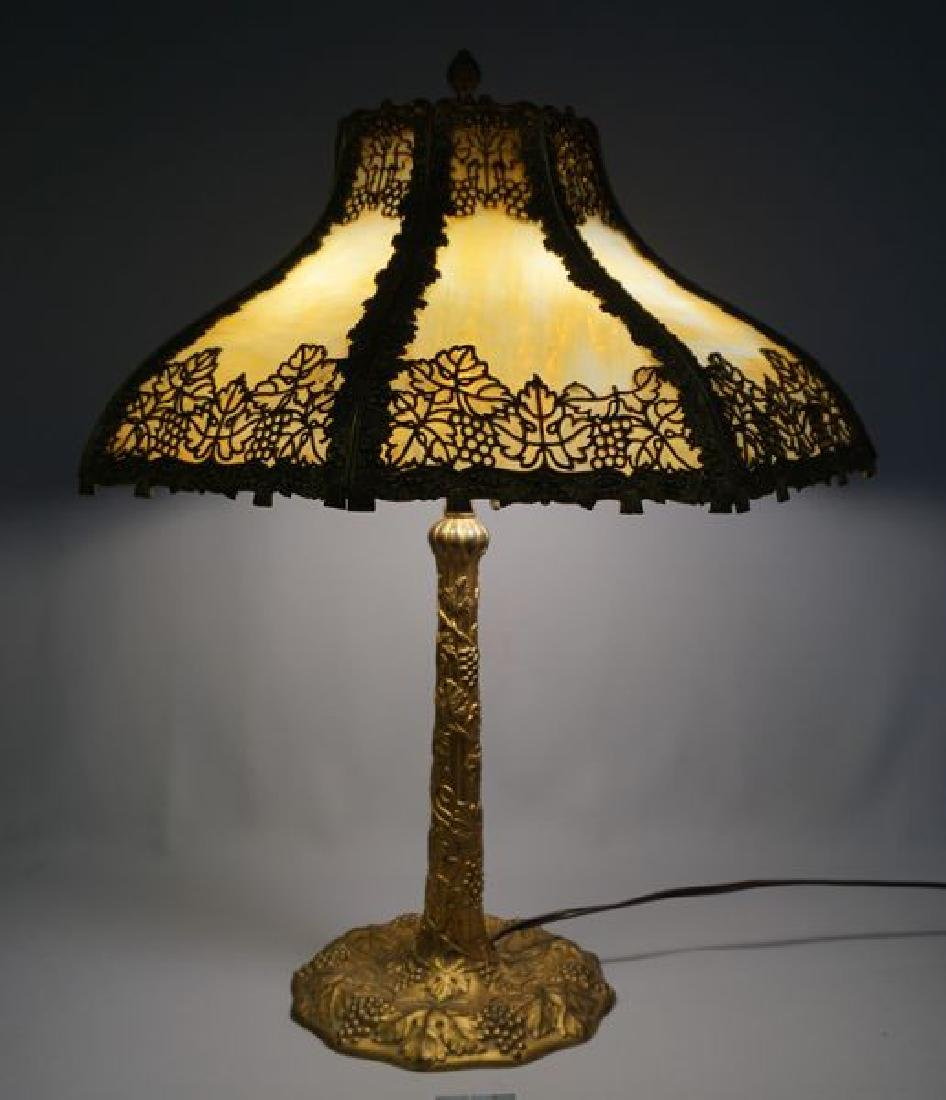 'ESTATE' SLAG GLASS TABLE LAMP,