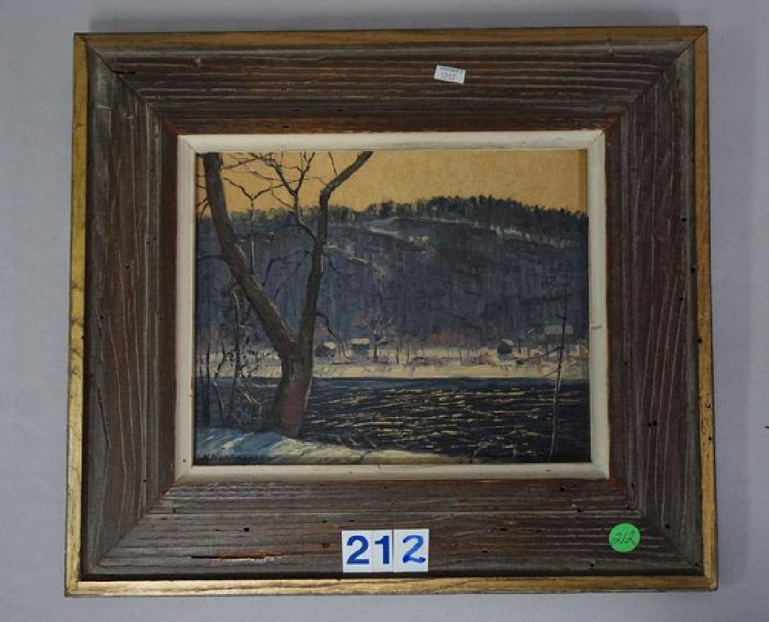 FRAMED OIL PAINTING ON CANVAS PANEL