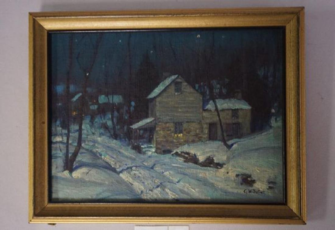 FRAMED OIL PAINTING ON PANEL,