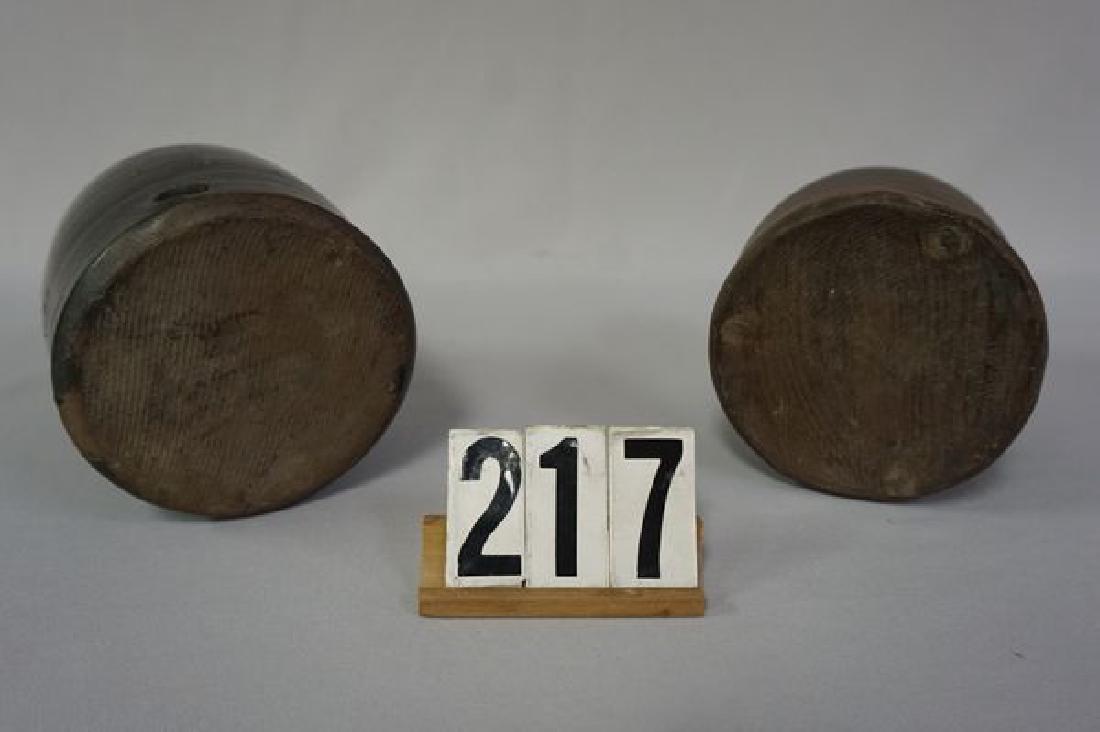 (2) BROWN STONEWARE CHICKEN - 5