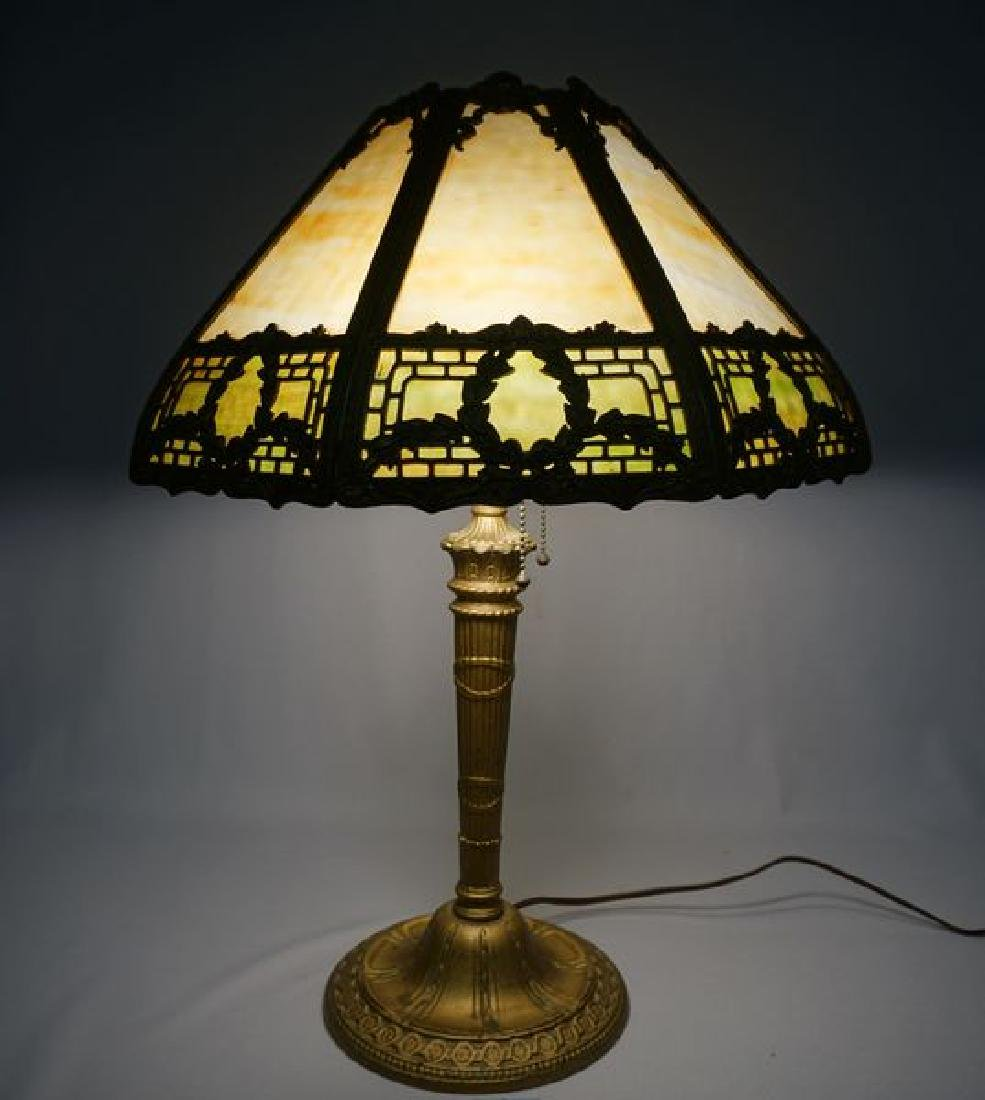 'ESTATE' SLAG GLASS TABLE LAMP