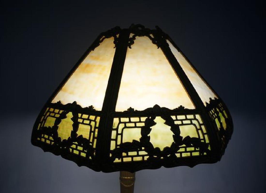 'ESTATE' SLAG GLASS TABLE LAMP - 2