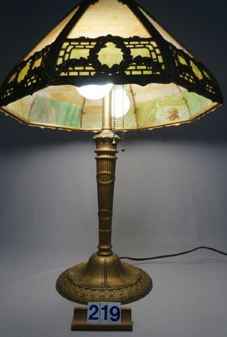 'ESTATE' SLAG GLASS TABLE LAMP - 3