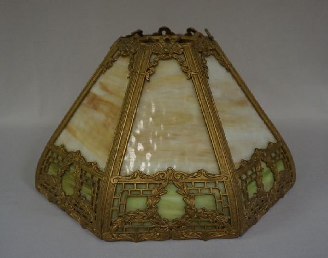 'ESTATE' SLAG GLASS TABLE LAMP - 5