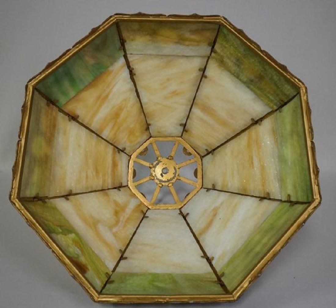 'ESTATE' SLAG GLASS TABLE LAMP - 6