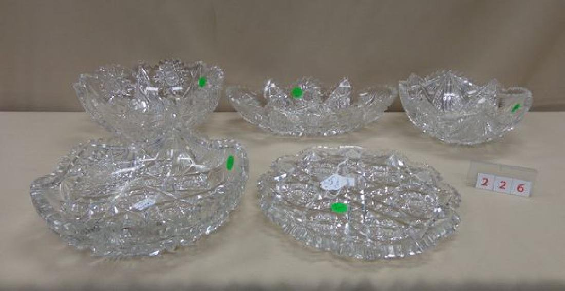 (4) ASSORTED HAWKES CUT GLASS BOWLS