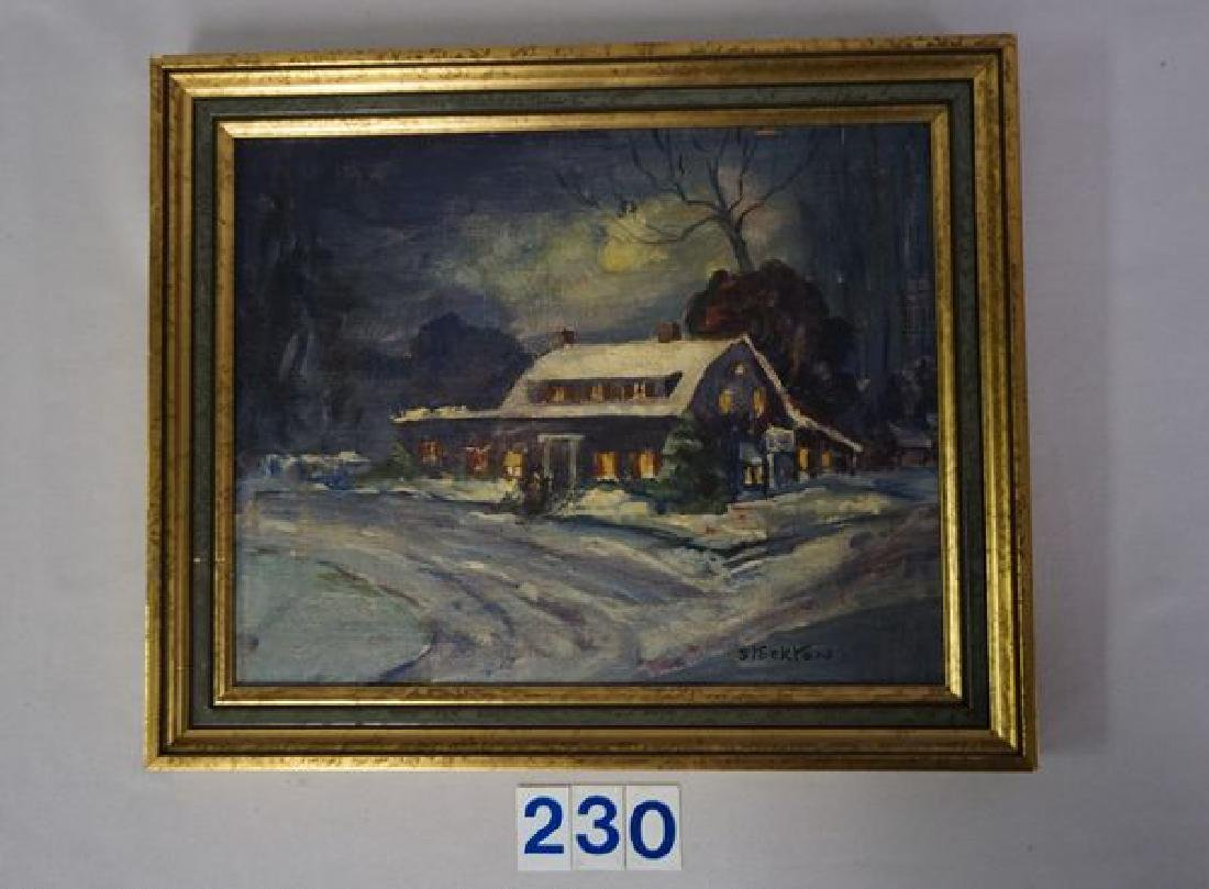 OIL PAINTING ON PANEL OF THE HISTORIC
