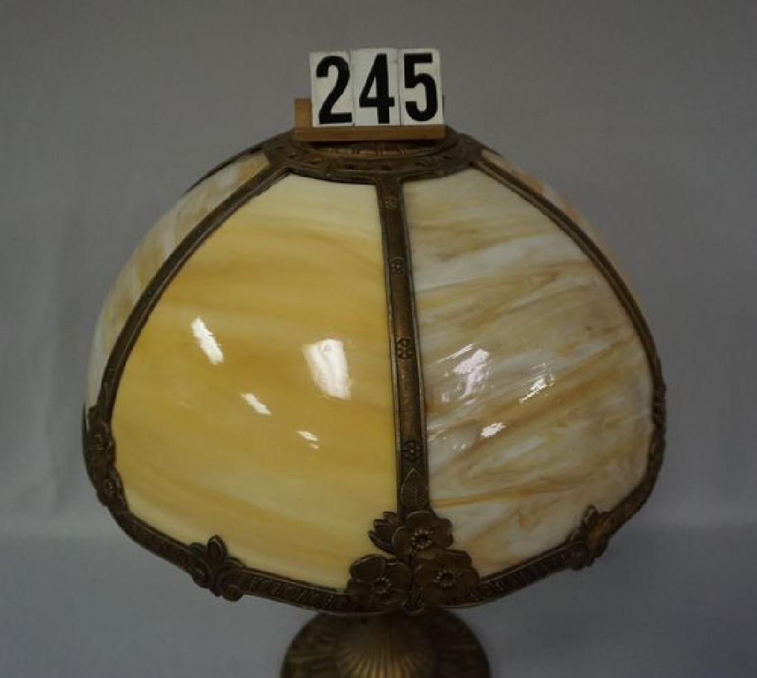 SIX PANEL CARMEL SLAG GLASS - 2