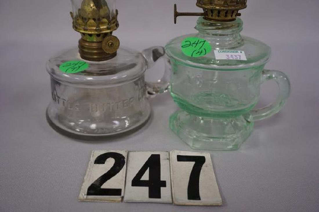 (4 PIECES) MINIATURE KEROSENE LAMPS: - 3