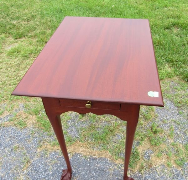 MAHOGANY CHIPPENDALE END TABLE
