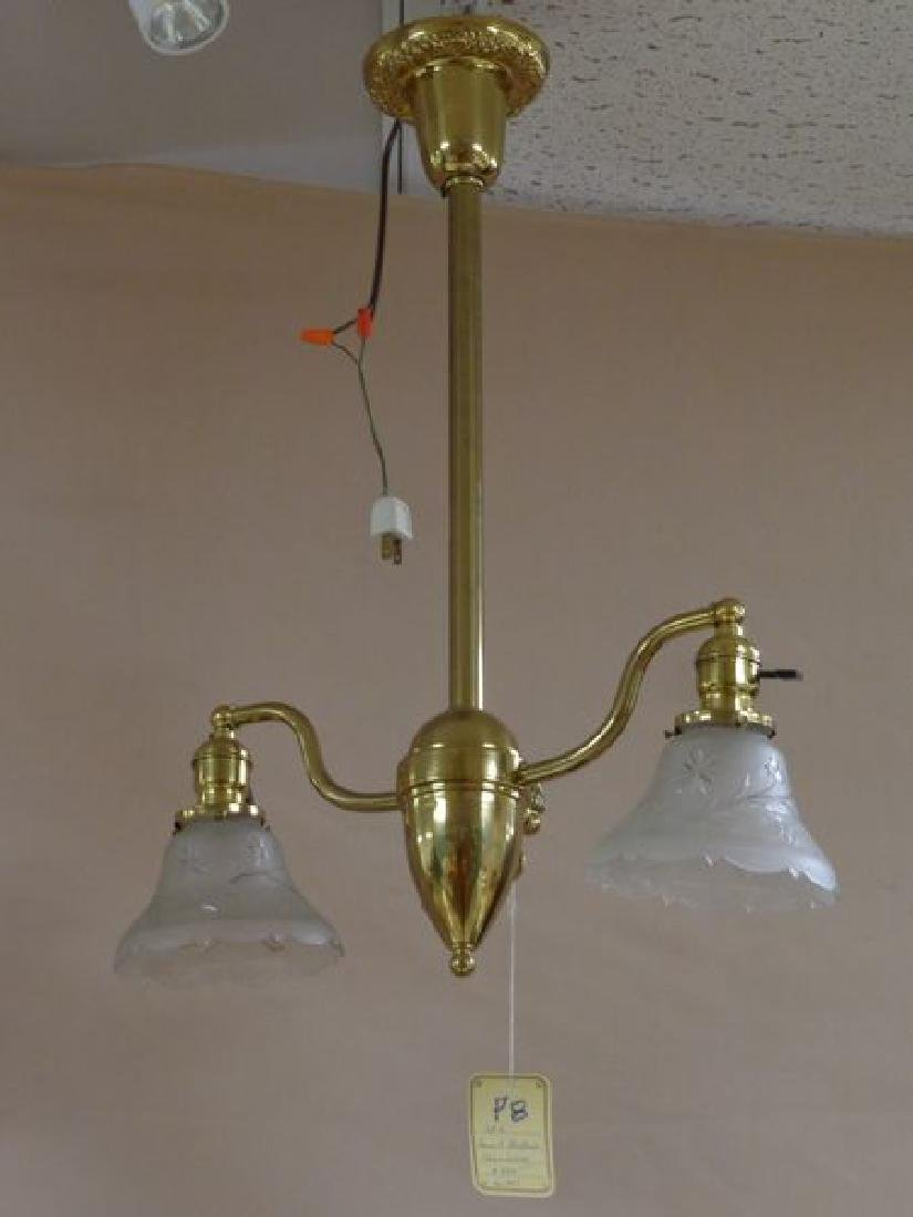 ANTIQUE BRASS GAS (ELECTRIFIED) TWO LIGHT