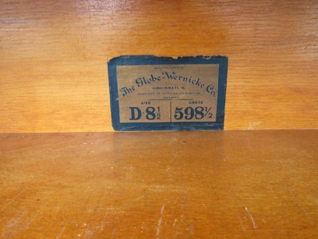 THREE SECTION OAK BARRISTER STACK BOOKCASE - 2