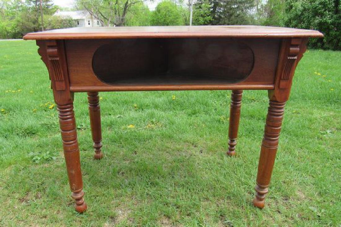 ANTIQUE WALNUT GAME TABLE,