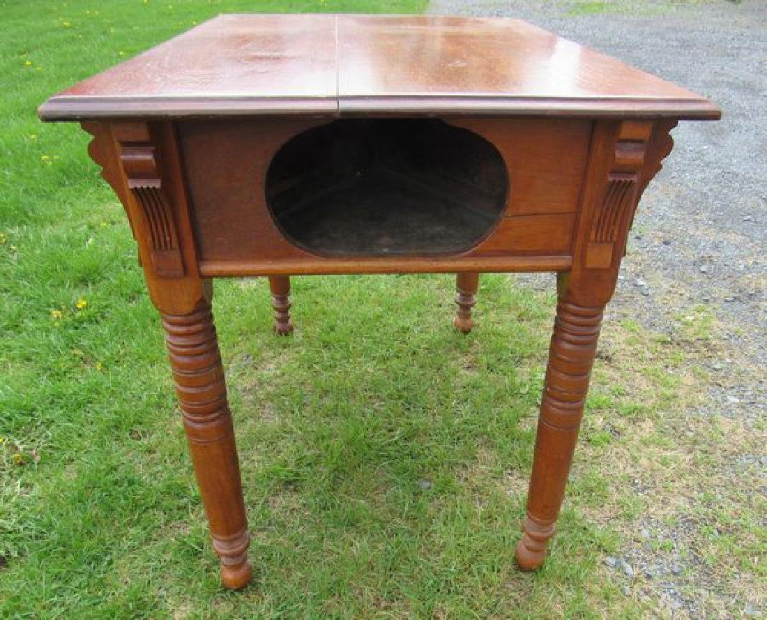 ANTIQUE WALNUT GAME TABLE, - 2