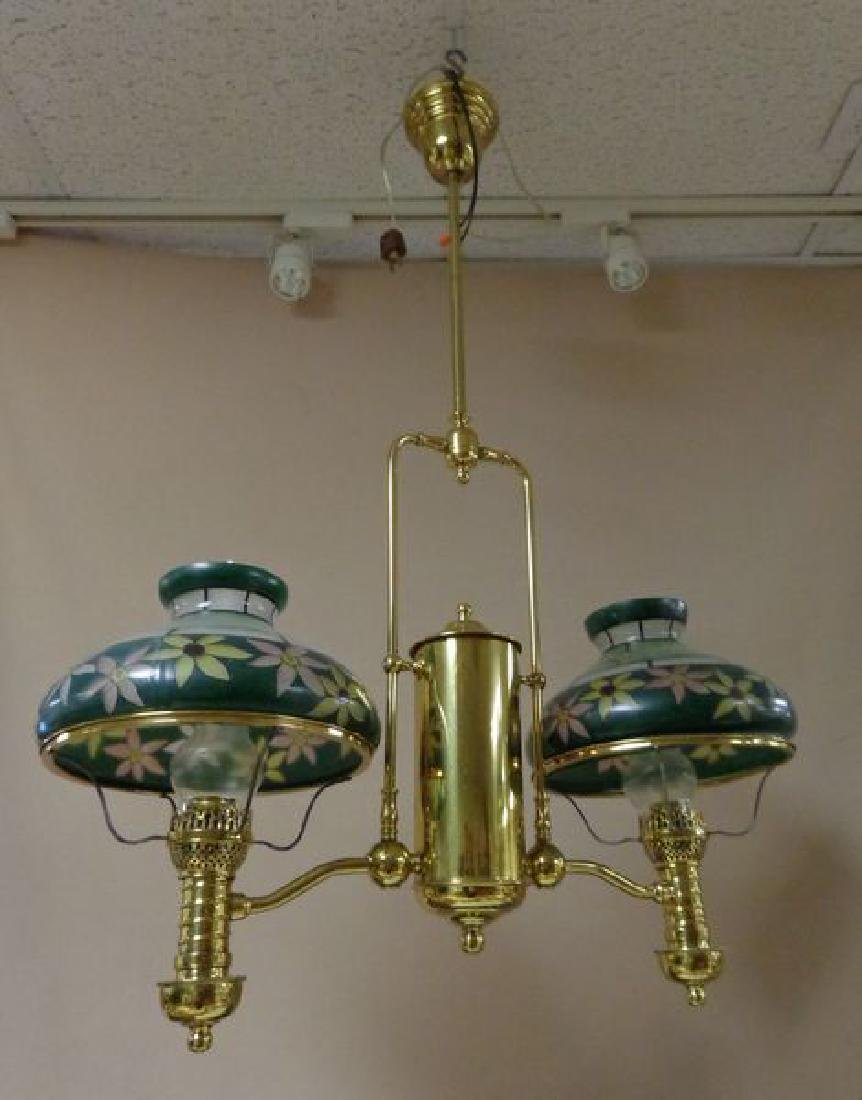 ANTIQUE BRASS TWO ARM CEILING FIXTURE