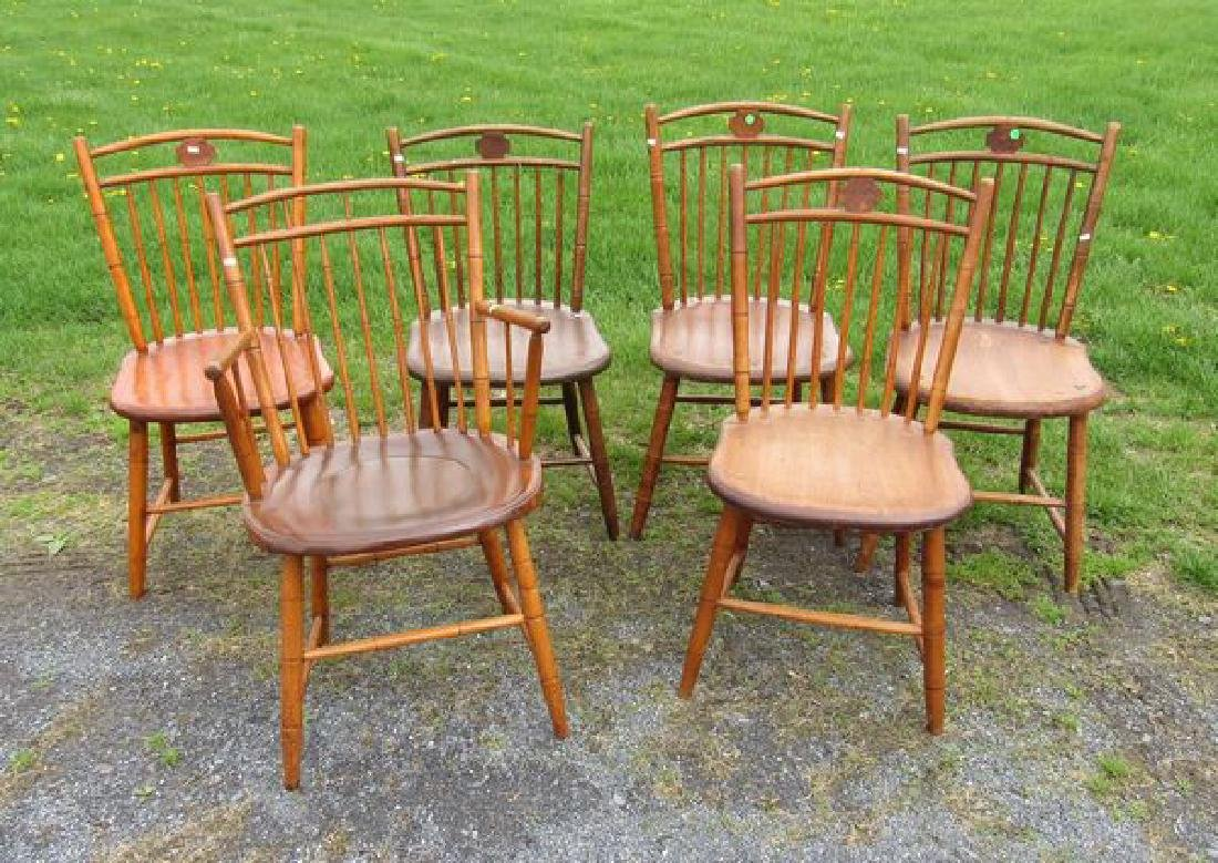 (6) BAMBOO WINDSOR CHAIRS: