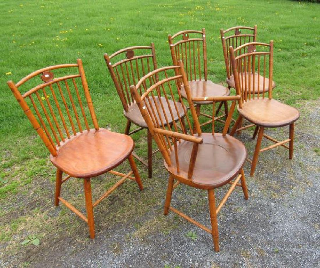 (6) BAMBOO WINDSOR CHAIRS: - 2