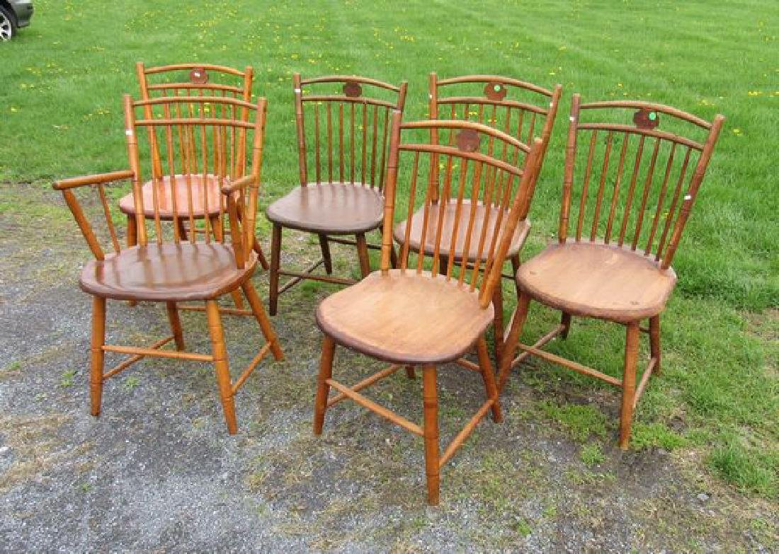 (6) BAMBOO WINDSOR CHAIRS: - 3