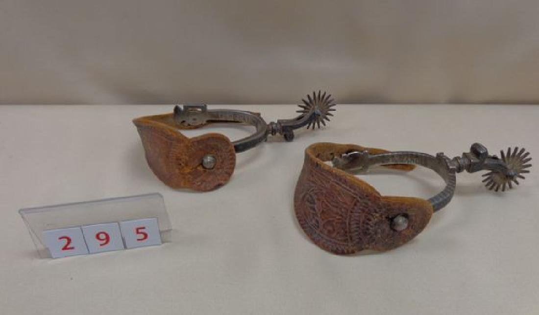 PAIR OF ANTIQUE WESTERN BOOT SPURS