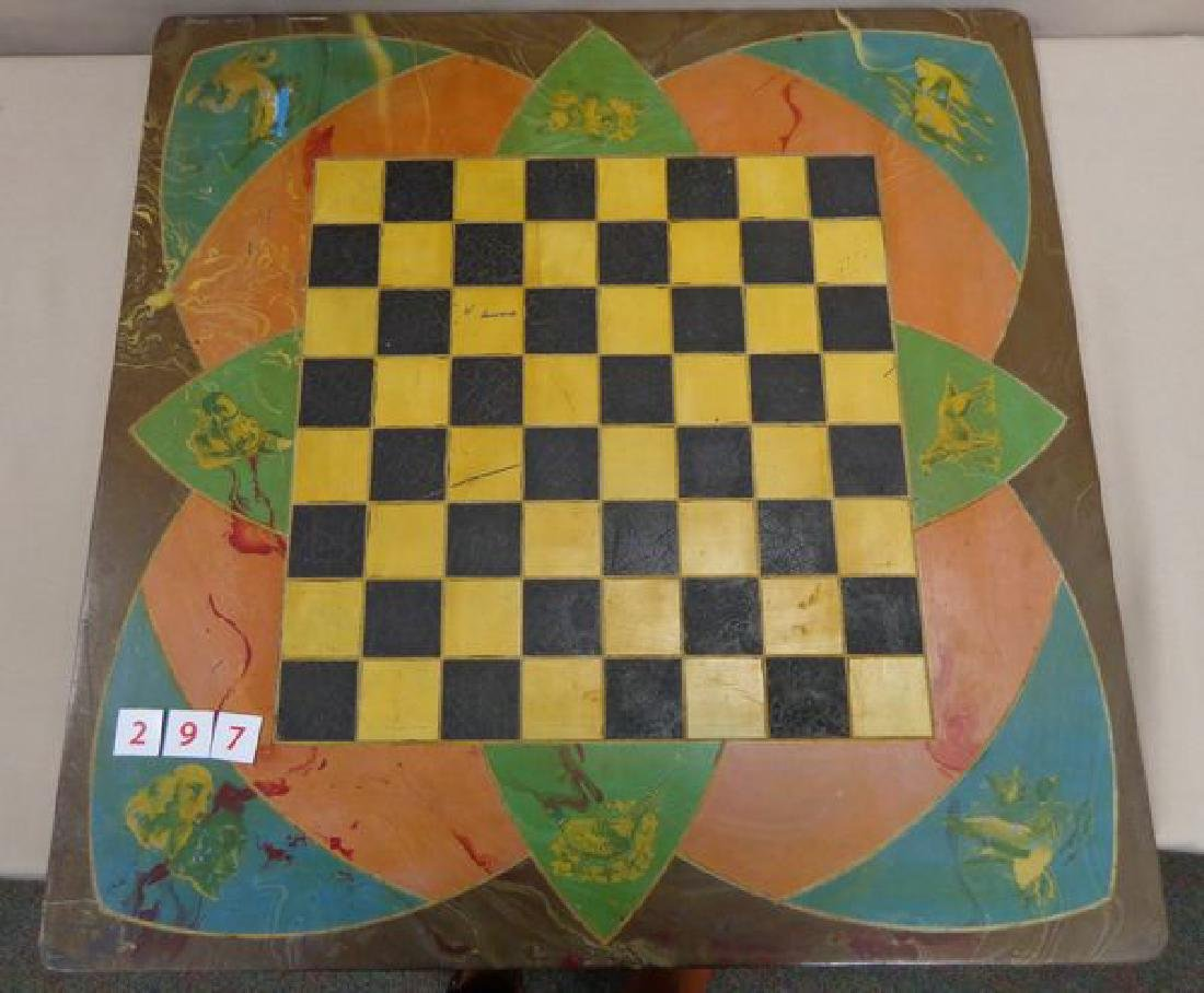 ANTIQUE MARBELIZED CHECKERBOARD/