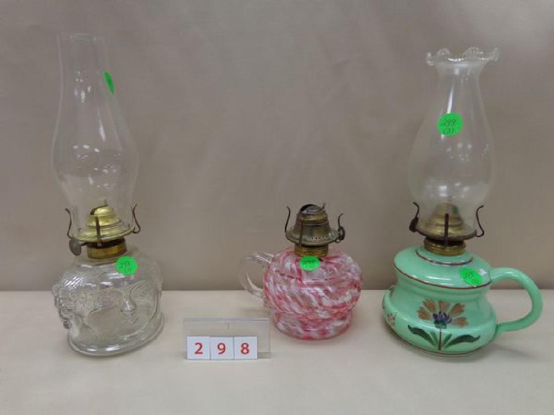 (3) FINGER LAMPS:
