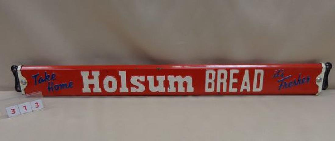 ANTIQUE DOOR PUSH BAR ADVERTISING HOLSUM