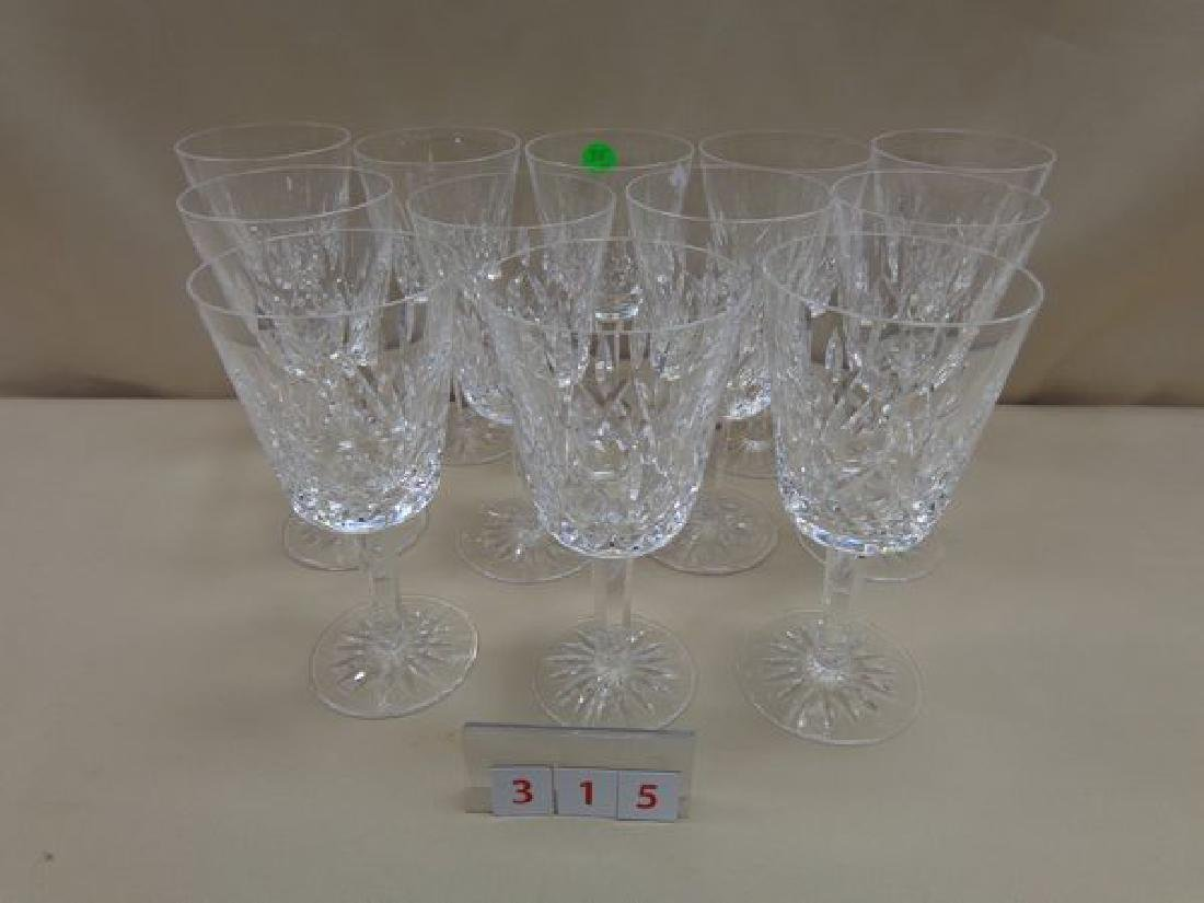 """(12) WATERFORD """"LISMORE"""" WATER GOBLETS"""