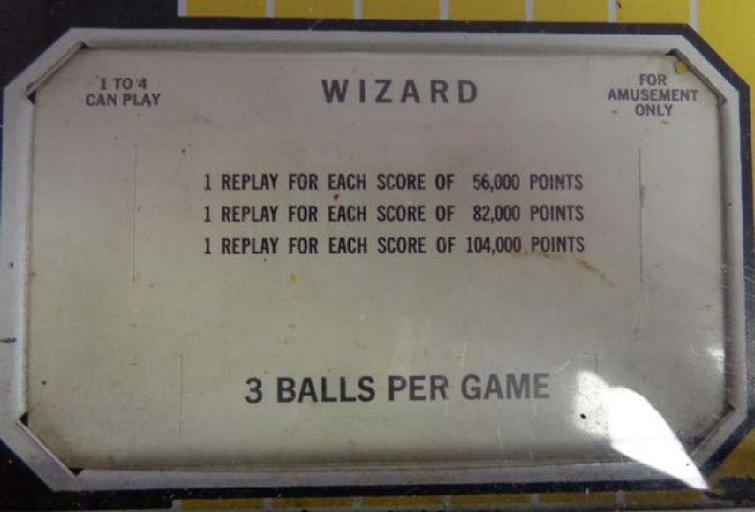 "1975 BALLY'S ""WIZARD"" ROCK & ROLL PINBALL - 4"
