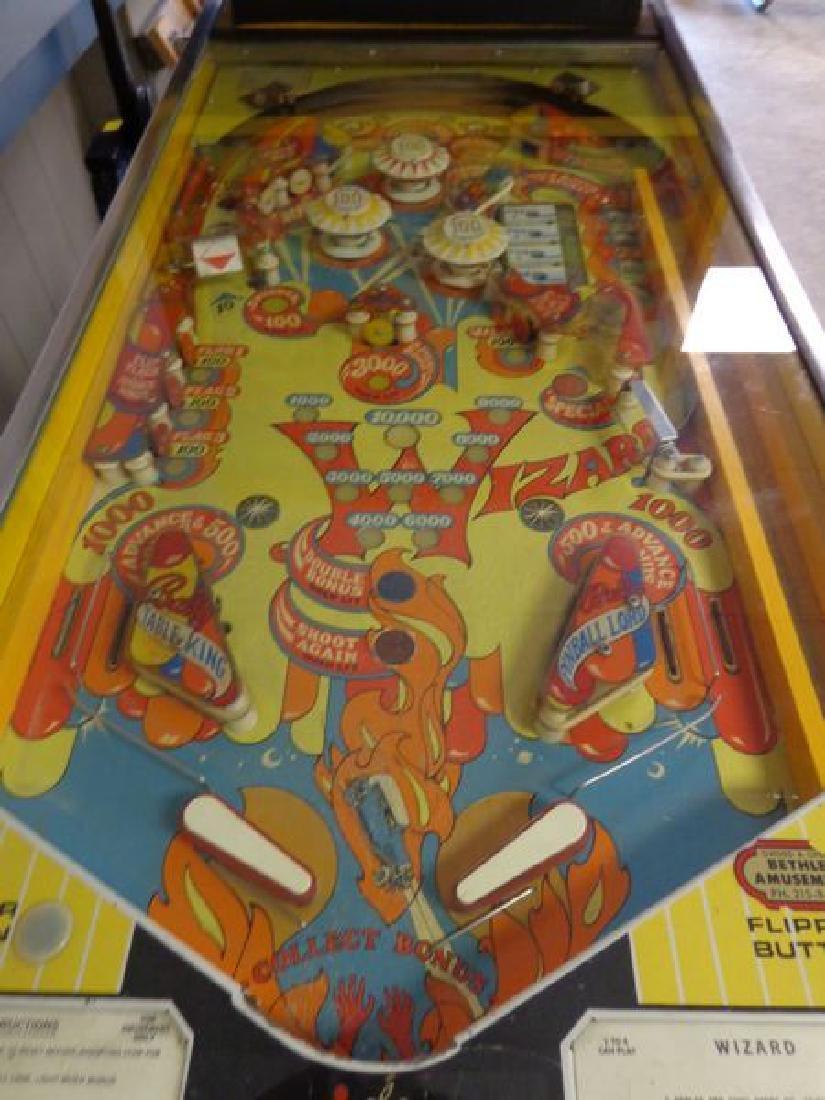 "1975 BALLY'S ""WIZARD"" ROCK & ROLL PINBALL - 6"