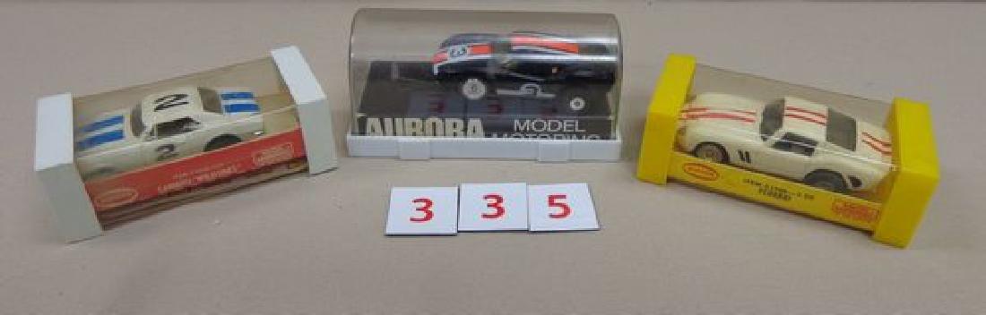 (3) AURORA SLOT CARS:
