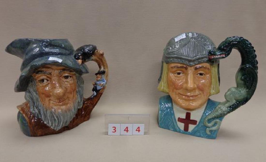 (2) ROYAL DOULTON (LARGE) TOBY JUGS: