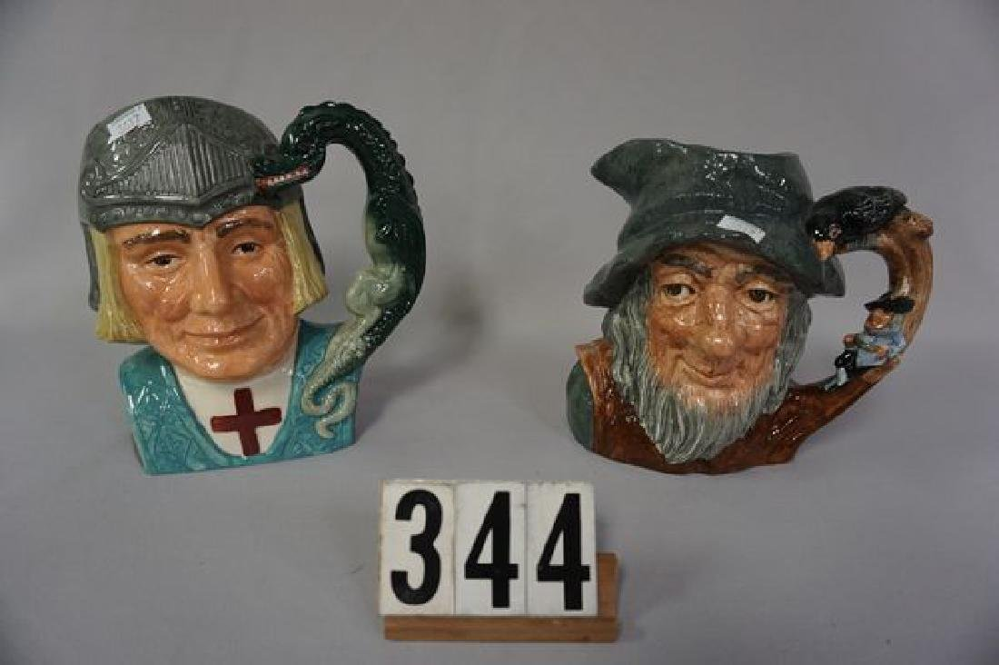 (2) ROYAL DOULTON (LARGE) TOBY JUGS: - 2